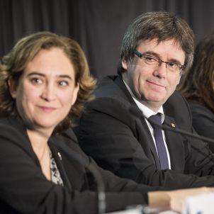 Colau Puigdemont Col·legi Economistes - Sergi Alcàzar