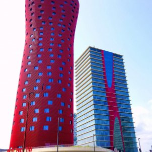 Hospitalet de Llobregat   Plaza de Europa, Torres de Toyo Ito (Torres Porta Fira), Hotel Porta Fira y Torre Realia BCN zarateman wikipedia