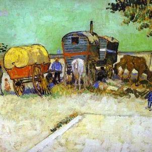 Vincent van Gogh. La caravana. Campament gitano prop d'Arles.