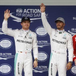 Lewis Hamilton Nico Rosberg GP Brasil Efe