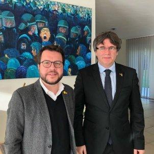 Puigdemont i Aragonès a Waterloo Twitter   @perearagones