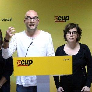 Roda de premsa CUP Eulàlia Reguant, Joan Coma, Mariona Pascual - ACN