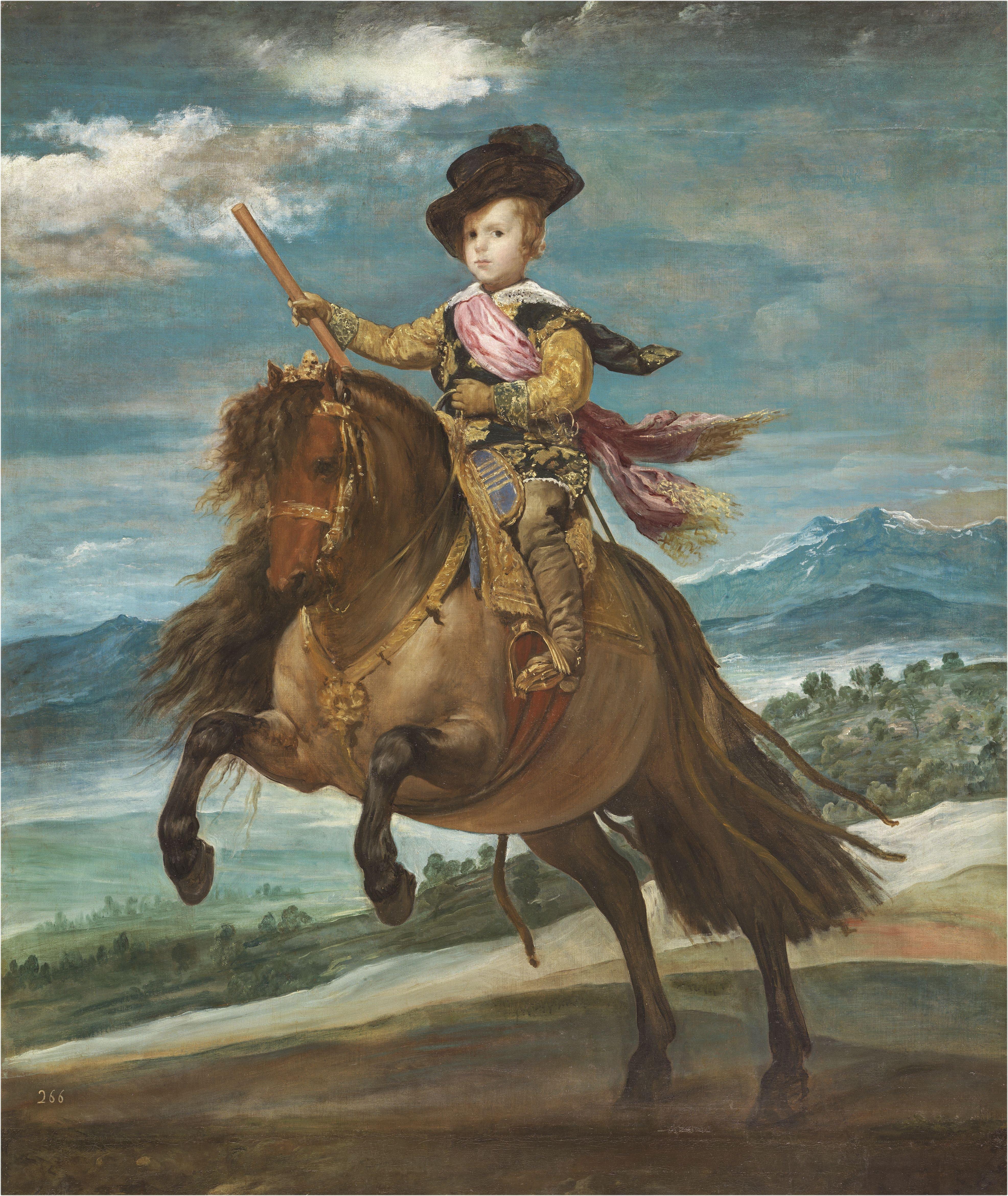 diego velazquez i el princep baltasar carles a cavall i 1634 1635 madrid museo nacional del prado