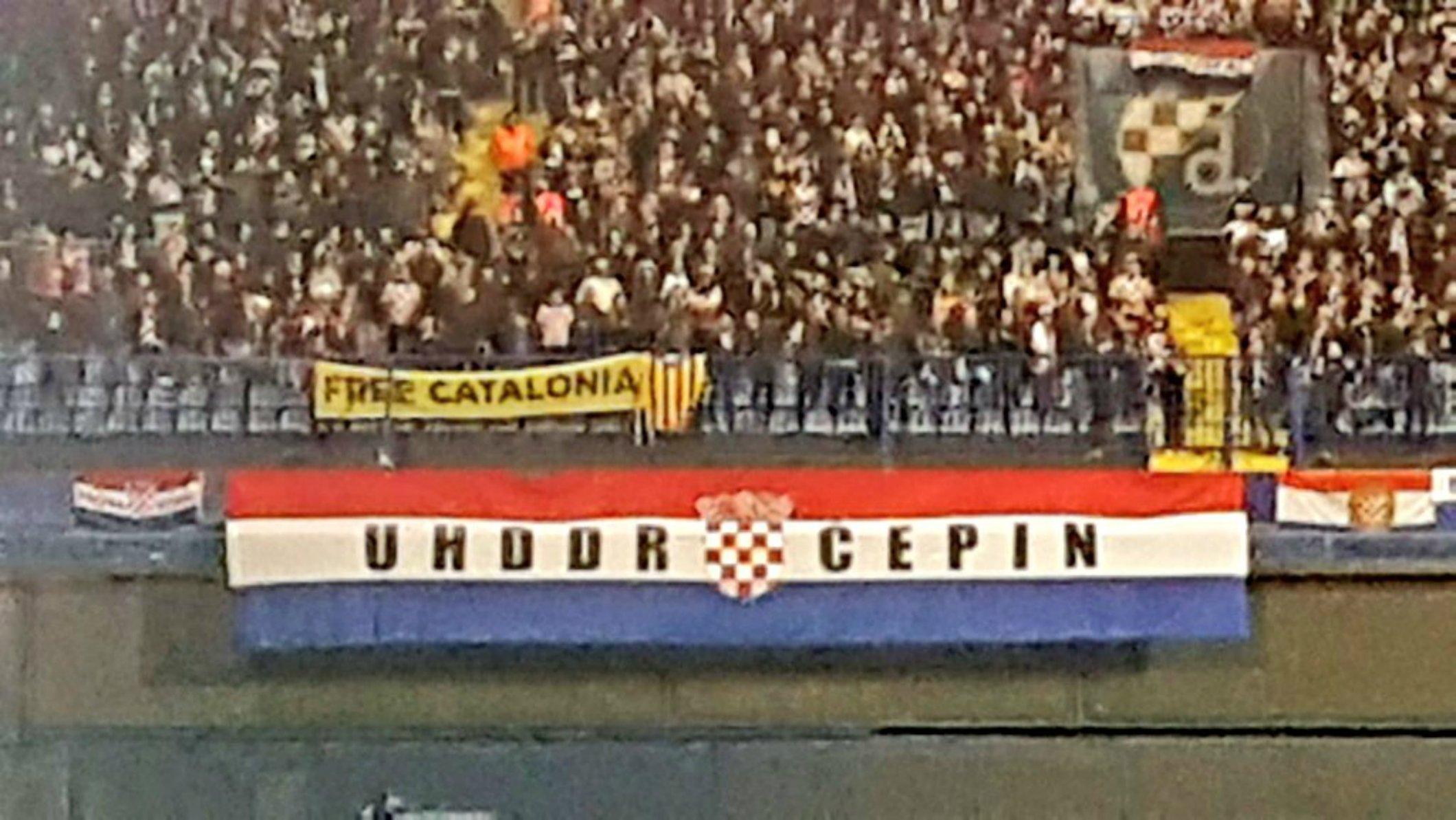 pancarta croacia espanya