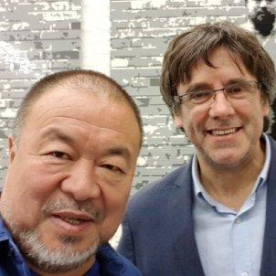 Carles Puigdemont  Ai Weiwei - ACN