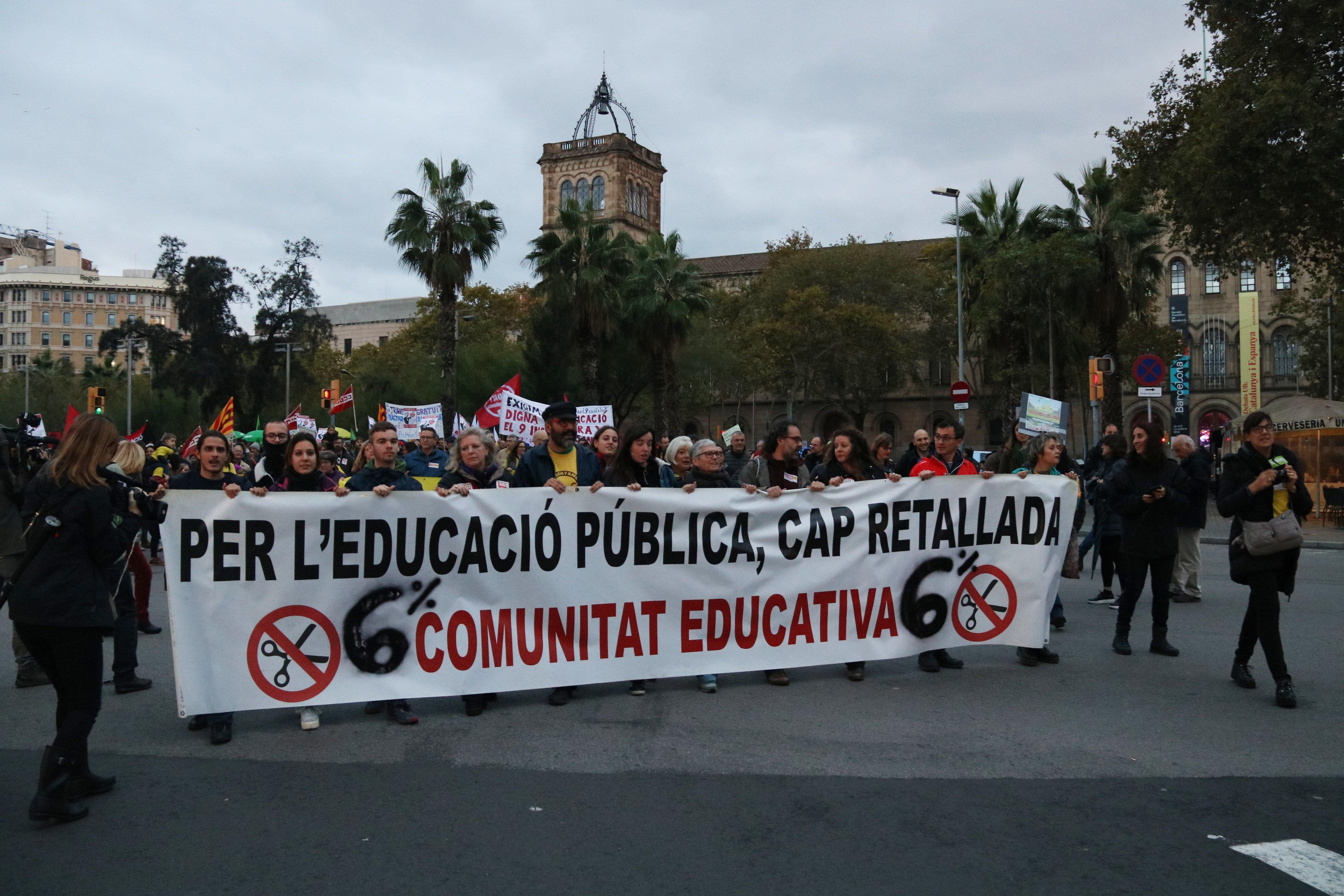 Manifestació retallades sistema educatiu ACN
