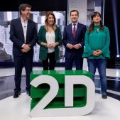 Debat Electoral Andalusia Susana Díaz (PSOE); Juanma Moreno (PP); Teresa Rodríguez (AA), Juan Marín (Cs) EFE