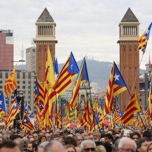 Mobilitzacio carrecs electes investigats banderes independentistes- Sergi Alcàzar