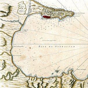 Mapa de la badia de Gibraltar (1762)