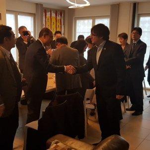 Japonesos entrevisten Puigdemont @josepalay
