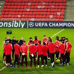 Barça entrenament Champions EFE