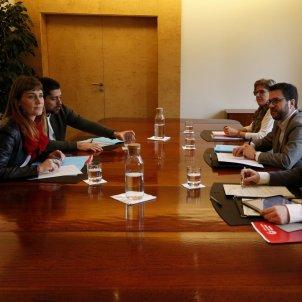 Reunió pressuposots Pere Aragonès Jéssica albiach David Cid comuns - ACN
