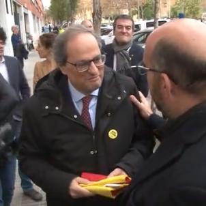 President Quim Torra banderes espanya Catalunya el prat de llobregat