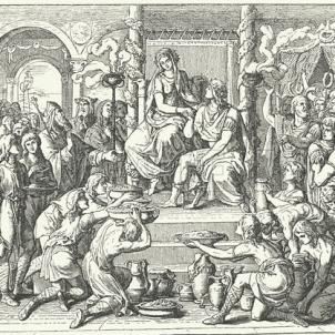 Representació renaixentista de les noces d'Ataülf i Gal·la Placidia. Font Viquipèdia