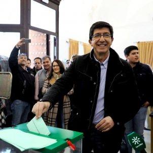 El candidat de Ciutadans, Juan Marín, ha votat a Sanlúcar de Barrameda - Cs