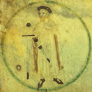 Test 35. Guifré el Pilós (840 897). Representació del comte Guifré. Font Enciclopèdia