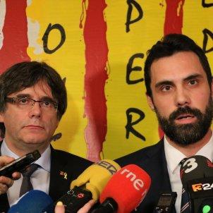 Roger Torrent Carles Puigdemont Waterloo - ACN