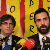Roger Torrent Carles Puigdemont Waterloo - ACN