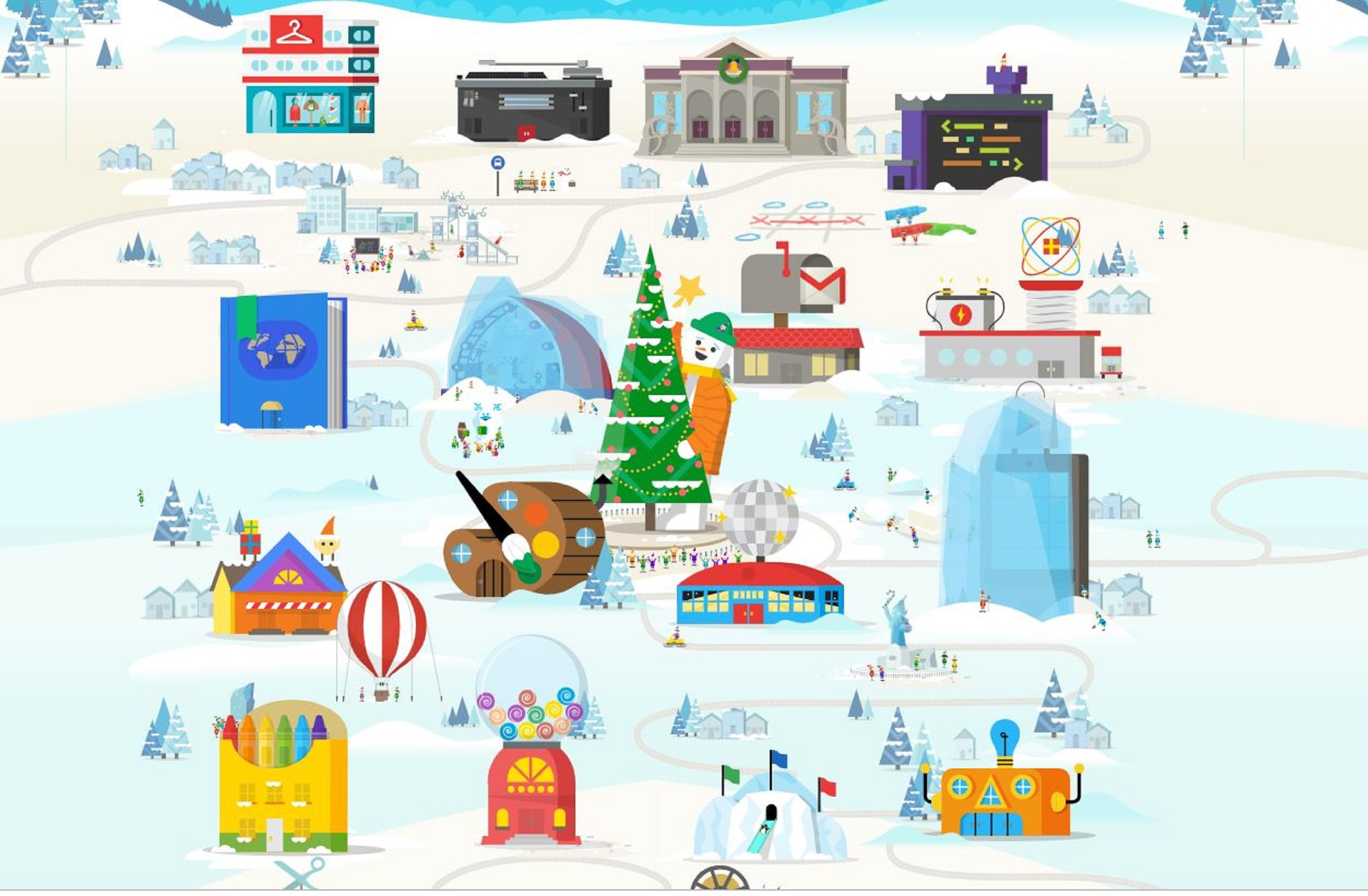 Món interactiu Google Pare Noel capura