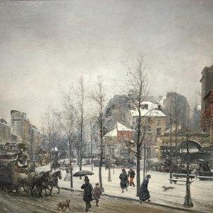 Sala Parés Ramon Martí Alsina (1826 1894) Boulevard Clichy París 1879 Oli sobre tela 74x93cm