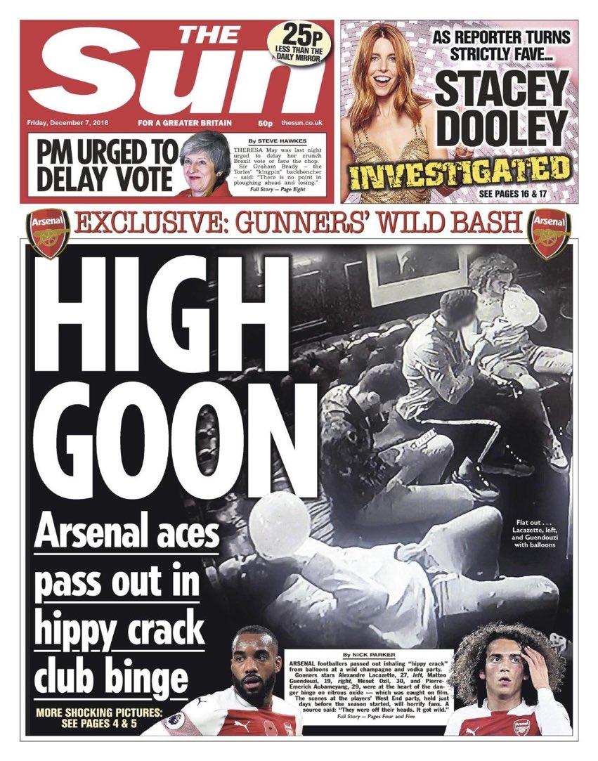 Fiesta de los Jugadores del Arsenal: Pillados con 'Hippy Crack'