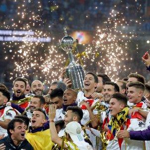 Celebració Copa River Santiago Bernabéu Boca Libertadores EFE
