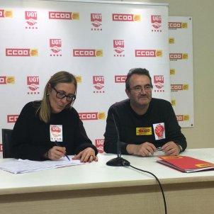 Roda de premsa CCOO UGT pagues funcionaris - Carlota Serra