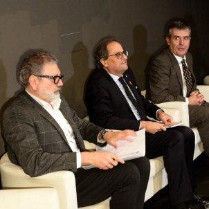 Alcalde Lleida Fèlix Larrossa President Quim torra Museu lleida - Efe