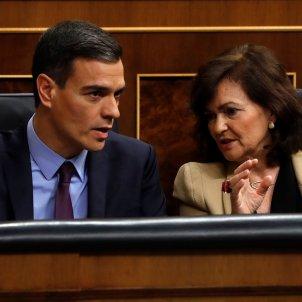 Pedro sanchez Carmen Calvo Congreso Diputados catalunya Brexit Dec 2018 Efe