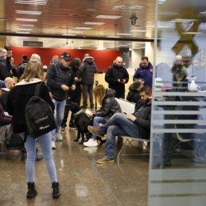 Sindicats Mossos es tanquen a la conselleria d'Interior Sergi Alcàzar