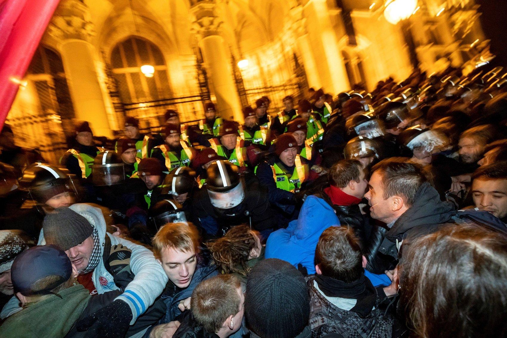 budapest protestes efe