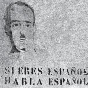 Post guerra espanyola 2. Mural en via pública