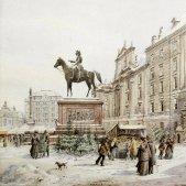 Mercat de Nadal a Am Hof, Viena (Karl Wenzel Zajicek 1908)