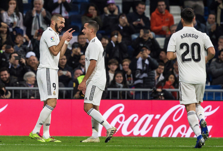 Benzema Lucas Vazquez Asensio Madrid Rayo EFE