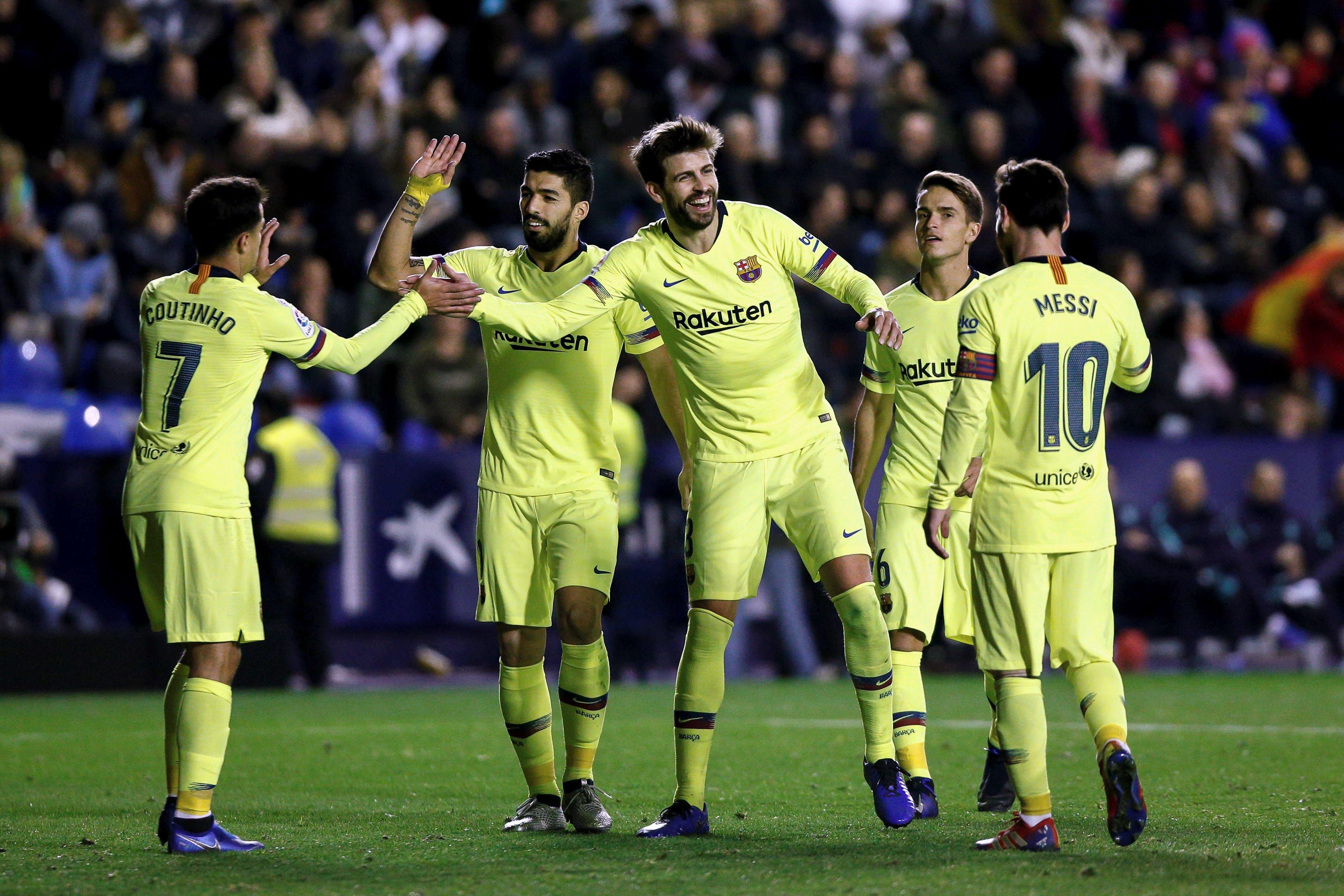 Gerard Piqué Llevant Barça EFE
