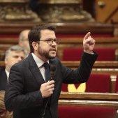 Pere Aragonès sessió control Parlament - víctor serri
