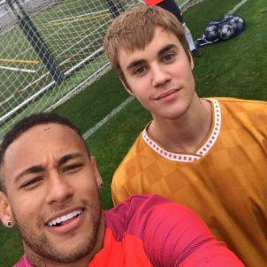 Justin Bieber Neymar entrenament Barça FC Barcelona