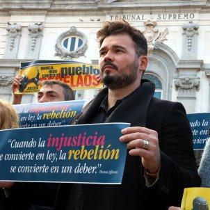 Rufián protesta davant Suprem Silenci, rebeleu vos ACN