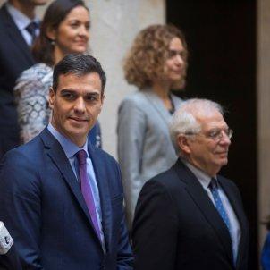 consell ministres Barcelona 21 D Sanchez, Calvo Borrell EFE