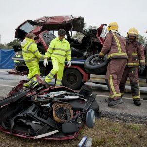 Accident a la N-II / Efe