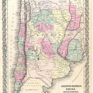 Mor Adolf Alsina, impulsor de la conquesta de La Pampa argentina. Mapa de l'Argentina (1855). La Pampa es el territori situat a l'oest de Buenos Aires