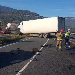 Accident cotxe i camió Alcover