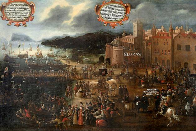 Embarcament forçat dels moriscos valencians al port del Grau (1609). Font Fundació Bancaixa