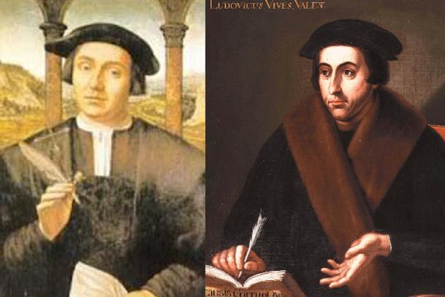 El financer Santangel i el professor Vives. Jueus conversos valencians. Font Viquipedia