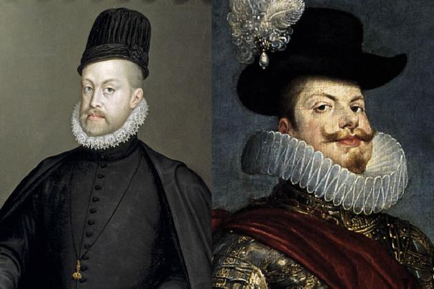 Retrats de Felip II i de Felip III. Font Museu del Prado