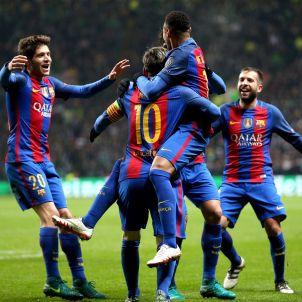Pinya Messi Celtic Barça Champions League Efe