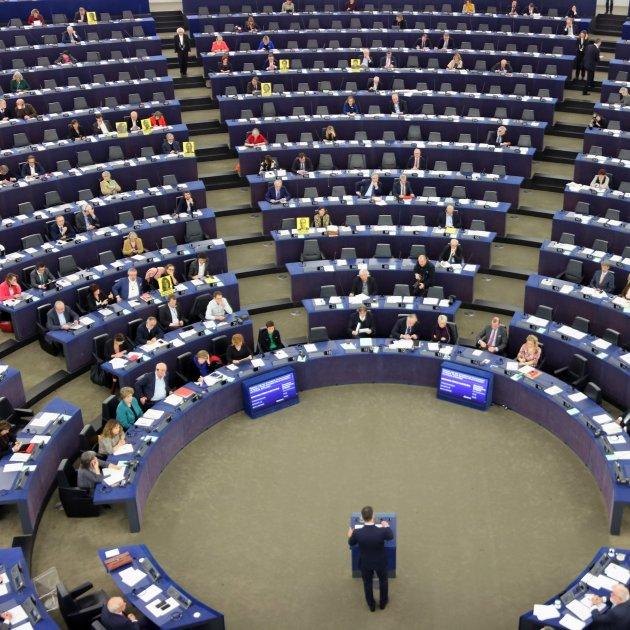Eurodiputats Protestant Pels Presos Polítics Discurs Sanchez