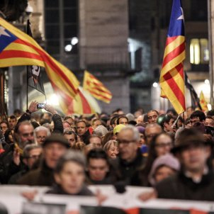 Manifestació Girona detinguts policia nacional - Carles Palacio