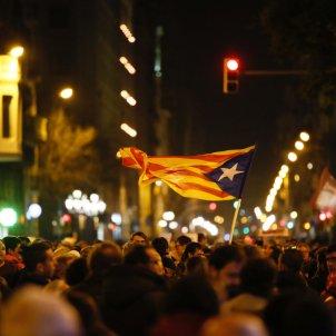 manifestació detencions Via Laietana estelada - Sergi Alcàzar