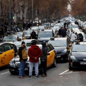 Taxi taxista manifestacio marxa lenta - Efe